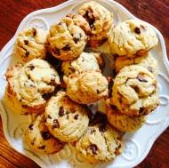 walnut & oatmeal chocolate chip cookies