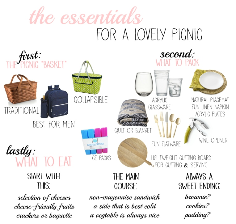 Essentials for A Lovely Picnic