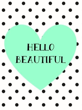 Hello Beautiful Print - Aqua.pptx