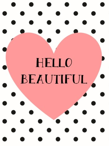 Hello Beautiful Print - Pink