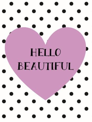 Hello Beautiful Print - Purple.pptx